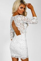 Sexy Lace Backless Bodycon Mini Dress LX-3062
