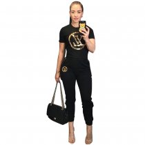 Casual Tracksuit Short Sleeve Two Piece Sets TR-929