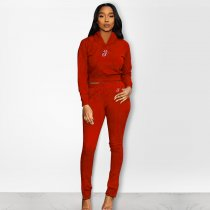 Casual Tracksuit Hoodies Long Pants Two Piece Sets PN-6228