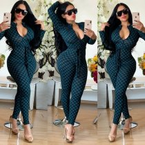 Casual Printed Long Sleeve Bodycon Jumpsuits MA-222