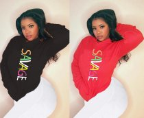 Letter Print Hooded Long Sleeve Hoodies Sweatshirt LM-8083