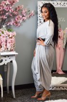 Solid Color Long Sleeve Loose One Piece Jumpsuits LSL-6317