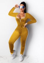 Sexy Bodysuit Top And Pants Two Piece Suits MOY-5118