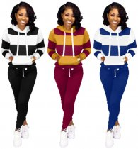 Plus Size Tracksuit Hoodies Long Pants Two Piece Sets OMY-5172