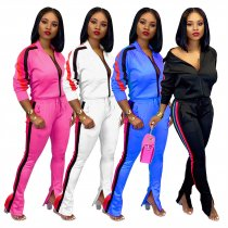 Casual Tracksuit Long Sleeve Two Piece Pant Sets ME-370