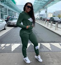 Women Pocket Hoodies Tracksuits 2 Pieces Sets MX-108029