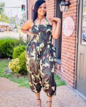 Camoflage Print Loose One Piece Jumpsuits OMF-5039