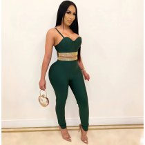 Hot Drilling Cami Tops And Pants Bodycon 2 Piece Sets MUE-2793