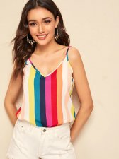Colored Stripes Straps Tank Tops BS-1067