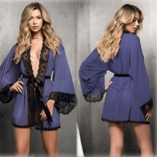 Sexy Sleepwear Lace Nightgown Robe Suit YQ-352