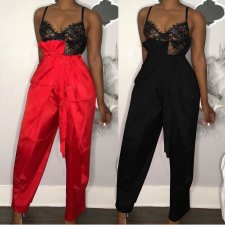 Solid Color High Waist Loose Long Pant AL-081