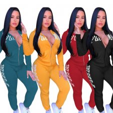 Fashion Letter Printed Sporty Sets 2 Pieces JUI-9088