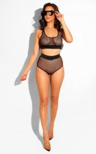 Sexy 2pcs Mesh Hollow Out Lingerie Set BS-1025