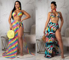 Sexy Printed 3pcs Swimsuit Bikini Set ORY-5097