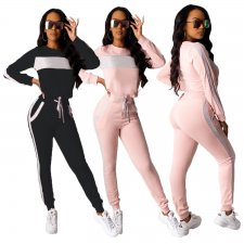 Casual Tracksuit Long Sleeve Two Piece Pant Sets TEN-3391
