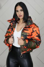 Camo Print Puffer Jacket Winter Thick Parka Down Coats OSM-4551