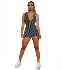 Sleeveless Stripe Romper YIS-802