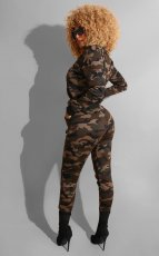 Camouflage Print Long Sleeve Two Piece Pants Sets BS-1146