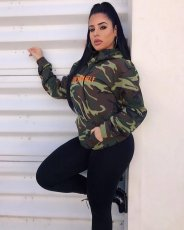 Camouflage Hooded Casual Loose Hoodies Sweatshirt SMD-7027