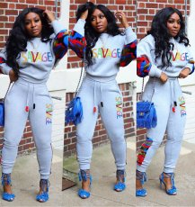 Plus Size Casual Camo Print Patchwork 2 Piece Sets SHA-6126
