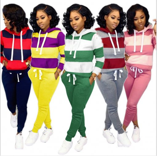 Plus Size Tracksuit Hoodies Long Pants Two Piece Sets MTY-6228