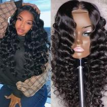 Youmi Human Virgin Hair Loose deep Curl Pre Plucked Lace Front Wig &5x5Transparent Lace Wig For Black Woman Free Shipping(YM0005)