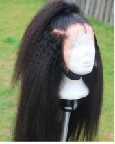 YouMi Human Virgin Hair Kinky Straight Pre Plucked Lace Front Wig & Full Lace Wig For Black Woman Free Shipping(YM0050)