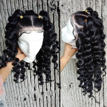 Youmi Human Virgin Hair Curl Pre Plucked Lace Front Wig And Full Lace Wig For Black Woman Free Shipping (YM0021)