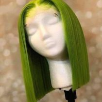 Youmi Hair Pre Plucked Human Virgin Hair green Color 5x5 bob wigs for black women Free Shipping(YM0101)