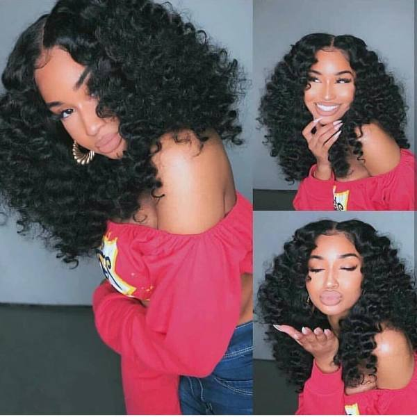 Youmi Human Virgin Hair Pre Plucked Lace Front Wig and 5x5Transparent Lace Wig For Black Woman Free Shipping(YM0011)