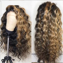Youmi Human Virgin Hair Wave Ombre 1B/27 Pre Plucked Lace Front Wig And 5x5Transparent Lace Wig For Black Woman Free Shipping (YM0018)