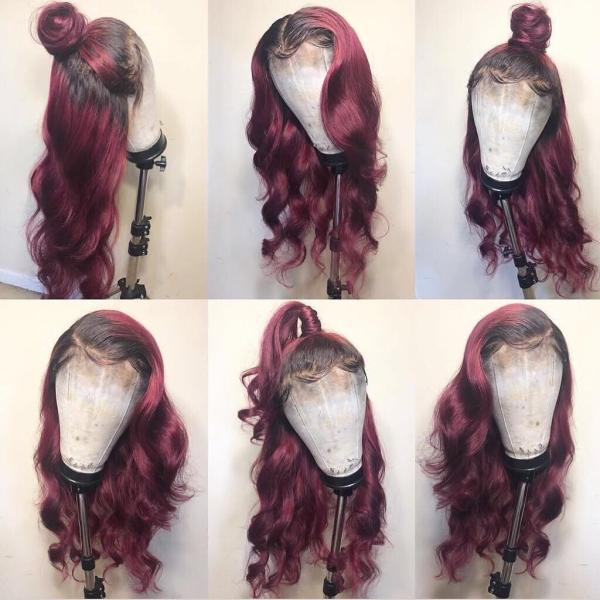 Youmi Human Virgin Hair Wave Pre Plucked 13*6Lace Front Wig And Full Lace Wig For Black Woman Free Shipping (YM0025)