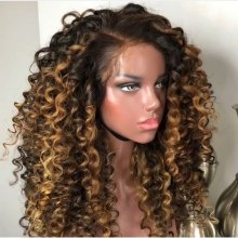 Youmi Human Virgin Hair Ombre Wave Pre Plucked Lace Front Wig And 5x5Transparent Lace Wig For Black Woman Free Shipping (YM0033)