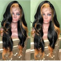 Youmi Human Virgin Hair Pre Plucked Ombre Wave Lace Front Wig And 5x5Transparent Lace Wig For Black Woman Free Shipping (YM0061)