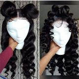 Youmi Human Virgin Hair Curl Pre Plucked 13x6 Lace Front Wig And Full Lace Wig For Black Woman Free Shipping (YM0062)