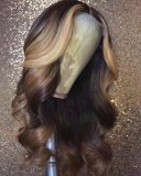 Youmi Human Virgin Hair Pre Plucked Lace Front Wig And 5x5Transparent Lace Wig For Black Woman Free Shipping (YM0056)