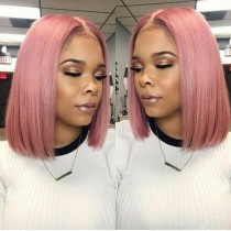 Youmi Human Virgin Hair Pre Plucked Ombre BOB Lace Front Wig And Full Lace Wig For Black Woman Free Shipping (YM0079)