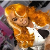 Youmi Human Virgin Hair Pre Plucked Ombre 5x5 Lace Front Wig And Full Lace Wig For Black Woman Free Shipping (YM0083)