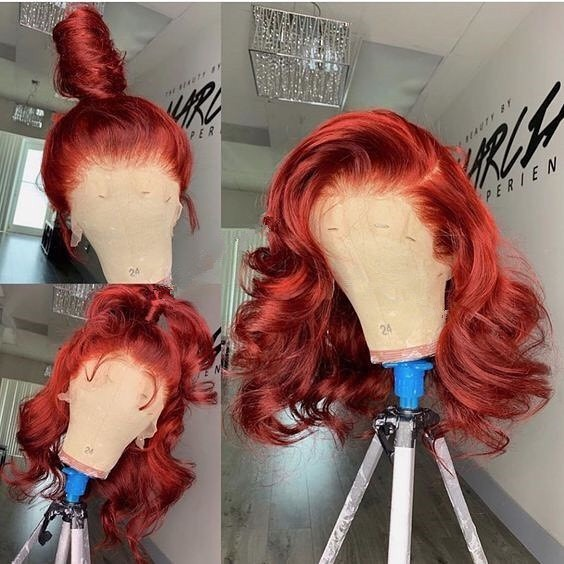 Youmi Human Virgin Hair Pre Plucked Ombre 5x5 Lace Front Wig And Full Lace Wig For Black Woman Free Shipping (YM0117)