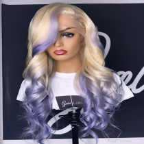 Youmi Human Virgin Hair Pre Plucked Ombre 5x5 Lace Front Wig And Full Lace Wig For Black Woman Free Shipping (YM0119)