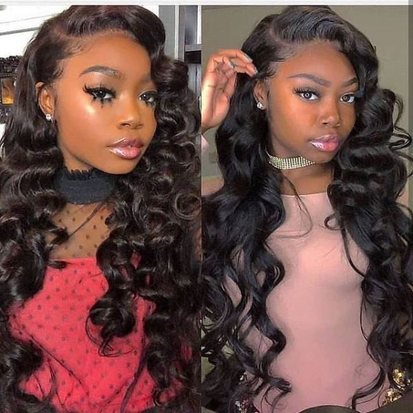 Youmi Human Virgin Hair Pre Plucked 13x6 Lace Front Wig And Full Lace Wig For Black Woman Free Shipping (YM0122)