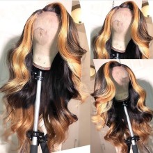 Youmi Human Virgin Hair Pre Plucked 13x6 Lace Front Wig And Full Lace Wig For Black Woman Free Shipping (YM0124)