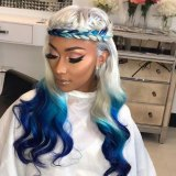 Youmi Human Virgin Hair Pre Plucked Ombre Lace Front Wig And Full Lace Wig For Black Woman Free Shipping (YM0129)
