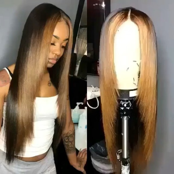 Youmi Human Virgin Hair Pre Plucked 13x6 Lace Front Wig And Full Lace Wig For Black Woman Free Shipping (YM0133)