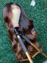 Youmi Human Virgin Hair Pre Plucked Ombre Lace Front Wig And Full Lace Wig For Black Woman Free Shipping (YM0149)