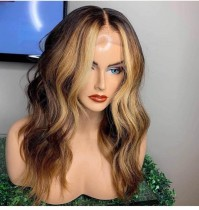 Youmi Human Virgin Hair Pre Plucked 13x6 Lace Front Wig And Full Lace Wig For Black Woman Free Shipping (YM0159)