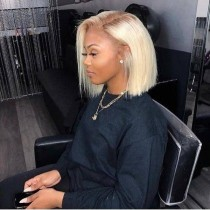 Youmi Human Virgin Hair Pre Plucked 4/613 Bob Lace Front Wig And Full Lace Wig For Black Woman Free Shipping (YM0160)