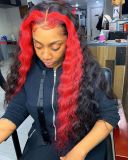 Youmi Human Virgin Hair Pre Plucked 13x6 Lace Front Wig  For Black Woman Free Shipping (YM0166)