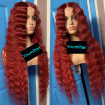 Youmi Human Virgin Hair Pre Plucked Ombre Lace Front Wig And 5x5 Full Lace Wig For Black Woman Free Shipping (YM0184)
