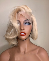 Youmi Human Virgin Hair Pre Plucked 613 Bob 13x6 Lace Front Wig For Black Woman Free Shipping (YM0183)